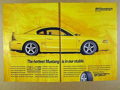 1996 Ford Mustang SVT Cobra coupe photo BF Goodrich Tires vintage print Ad