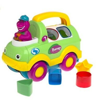 BARNEY'S Clean Up Truck, Shape Sorter by Fisher-Price, Rare (from 2002!)