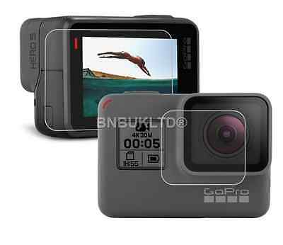 Tempered Glass Screen Protector For Go Pro Hero 5 Lens + Lcd Screen Set