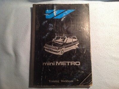 mini metro training workbook, original British Leyland