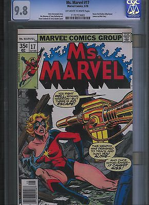 Ms. Marvel # 17 CGC 9.8  White Pages. UnRestored.