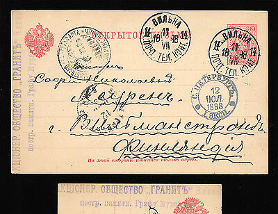 1898 Lithuania Historical Card Construction of Monument to Count Muraviev Wilna