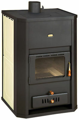 Wood Burning Stove 29 kW Back Boiler Log Burner Woodburning Prity WDW24 NEW