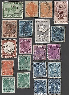 Venezuela. 20 early and mid-period stamps. MH / Cancelled