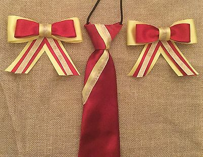 childs equestrian showing set - show tie and bows L@@K !!