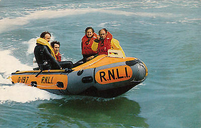 Postcard R N L I Inshore Rescue Boat Lifeboat