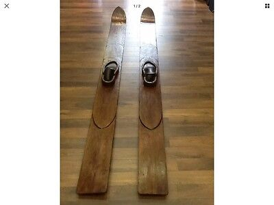 Vintage / Skis Nautiques / Rare / Joinville Le Pont / Collector / Water Skis