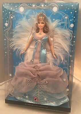 Mattel 2008 Angel ��Barbie Doll Pink Label Edition.NEW.Blue Silver Feather Sears