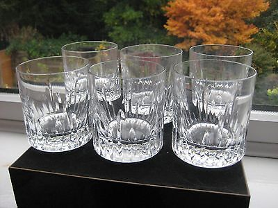Six Royal Brierley Crystal  Tumblers / Whiskey Glasses In Excellent Condition