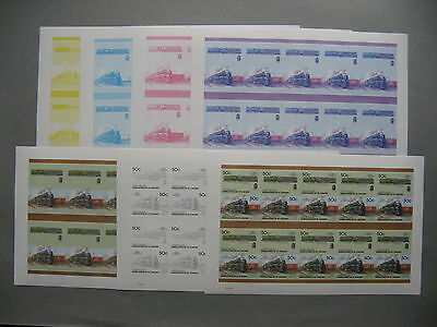 ST VINCENT GRENADINES, Imperf. sheet MNH +6x colorproof Train Canada class U4-a