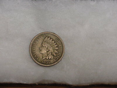 1859 Indian Head Cent Cn Circulated **free Shipping**