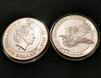 1oz Commemorative Silver Plated Coin -- 2015 Australian Wedge Tailed Eagle Coin