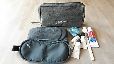 Cathay Pacific Business Class Travel Amenity Bag Brown New & Unused