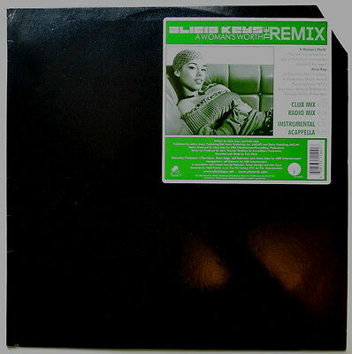 "12"" Us**alicia Keys - A Woman's Worth (The Remix) (J Records '02)***18107"