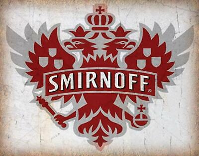 Smirnoff Vodka Vintage Alcohol Advertising Metal Tin Sign Poster Wall Plaque