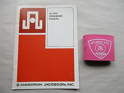 Anderson Jacobson Aj 1234 Operators Manual 96-18519-010