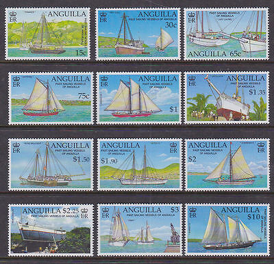 Anguilla 2003 Mint MLH Full Set Definitives Ships Warspite Excelsior Spitfire