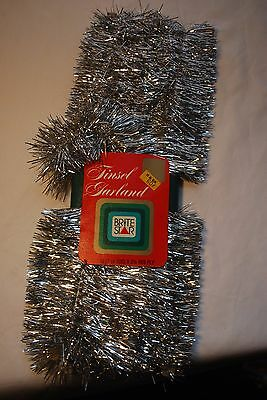 Vintage Brite Star Tinsel Garland New 12ft