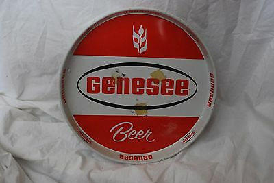 GENESEE BEER TRAY - Rodchester NY 11.5 IN Red and White