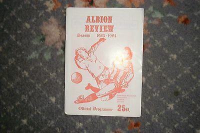 Programme Witton Albion v Mossley 1983