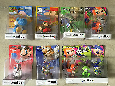 Amiibo Lot 7 Figurines NEW COLLECTION Bundle Girl/Squid/Boy Triple Pack and more