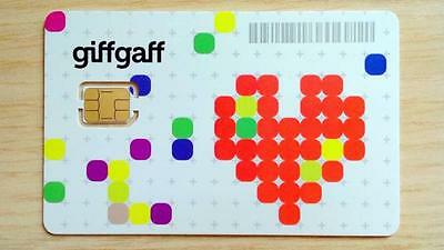 Free Sim Card With £5 Credit Giffgaff Nano/Micro/Standard 3 in 1 Unlimited Data