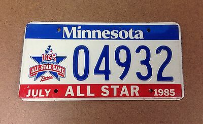 1985 MINNESOTA - TWINS BASEBALL ALL STAR GAME LICENSE PLATE TAG Special Graphic
