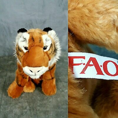 "FAO Schwarz Tiger 19"" inch Plush Stuffed Orange Black Toys'R'Us Exclusive EUC"