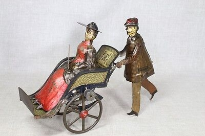 "1890s Lehmann ""Going to the Fair"" Lady in Promenade Chair COMPLETE"