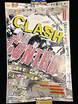 The Clash Out Of Control Tour Poster 84 Sex Pistols Ramones Punk LP Shirt