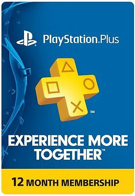 PlayStation PLUS Membership CARD - Sub 1 Year 12 Month - PSN PS3 PS4 FAST SHIP