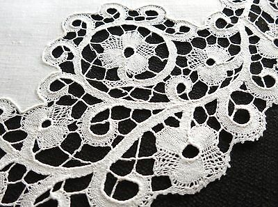 FINE & BEAUTIFUL Antique c1920 Handmade ITALIAN CANTU LACE Bobbin 12 PLACEMATS