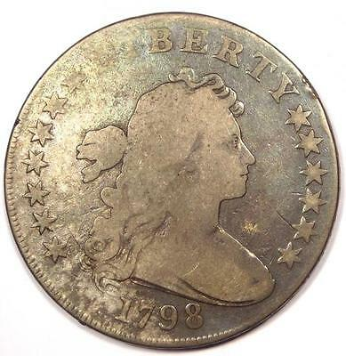 1798 Draped Bust Silver Dollar $1 - Very Good Details (VG) - Rare Type Coin!