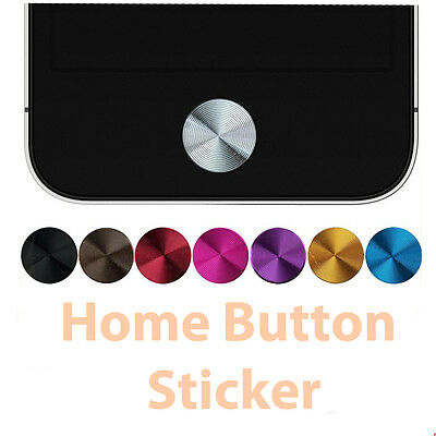 Aluminium Home Button Sticker for Apple iPod Touch iPad Air iPhone 5S 5C 5 4S 4