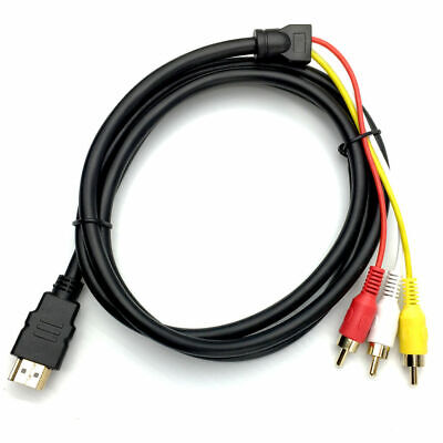 HDMI to 3 RCA RGB Male AV Video Audio Adapter Cable For HDTV DVD Player TV 3RCA