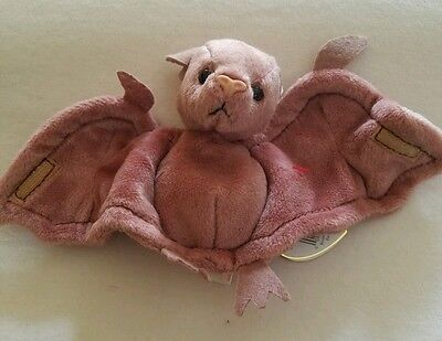 TY BEANIE BABIES BABY BATTY the BROWN BAT MWMT STYLE 4035 PVC DOB 10-29-96