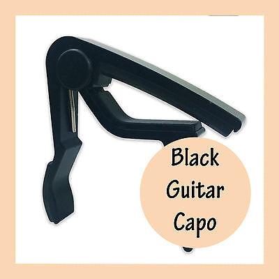 Guitar Capo Black Aluminum Spring Trigger Electric Acoustic Clamp Fast Release