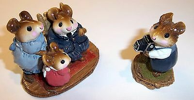 """Wee Forest Folk - Say """"Cheese"""" M-072 & Family Portrait M-127"""