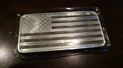 10 OZ Silver Bar American Flag 10 oz .999 Fine Silver Sealed