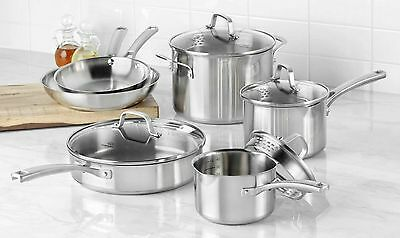 Calphalon Classic 10-pc. Stainless Steel Cookware Set.