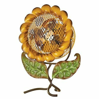 Decorative Sunflower Fan Table Desk Stand Cooling Electrical