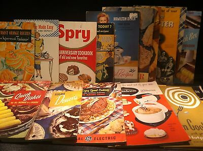 VINTAGE 1940's & 1950's RECIPES, FOOD & APPLIANCE ADVERTISING BOOKLETS LOT