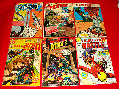10 Vintage War Comic Books 1958-76 Silver & Bronze Age - WWII & other Stories