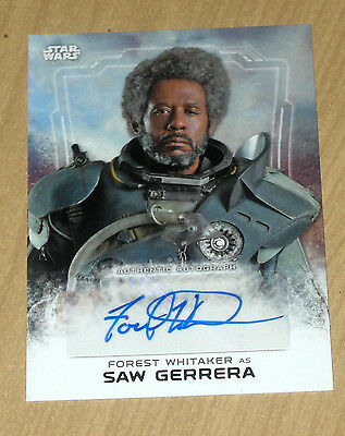 2016 Topps Star Wars Rogue 1 autograph Forest Whitaker as SAW GERRERA