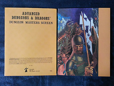 dungeon masters screen, first print, dungeon masters screen 1st print, DM Screen