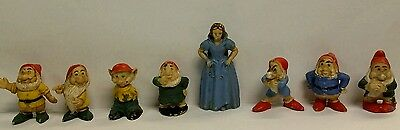 RARE-DISNEY SNOW WHITE AND THE SEVEN DWARFS 1960's ? GERMANY MINIATURE FIGURES-