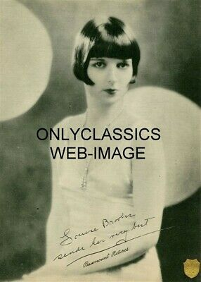1920s LOUISE BROOKS LULU PARAMOUNT PICTURES SIGNATURE PHOTO DELTA PEARLS FLAPPER
