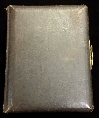 Victorian Brown Leather Photo Album With Photos
