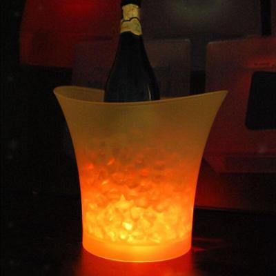 LED Light Ice Bucket Colors Changing RGB Wine Champagne Drinks Beer Cooler