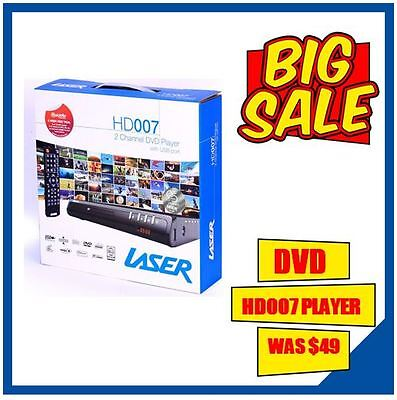 Laser DVD Player Composite & Usb Playback RCA Remote Control Slim DivX HD007